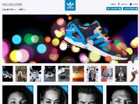 adidas Originals LookbookのWebデザイン