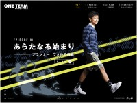 ONETEAM – gloops special movieのWebデザイン