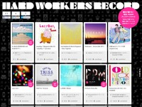HARD WORKERS RECORDのWebデザイン