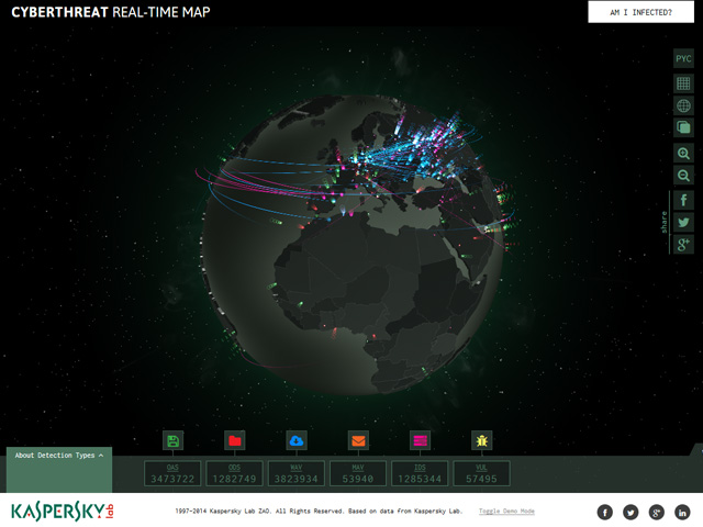 Find out where you are on the Cyberthreat map