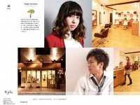 hair salon refugeのWebデザイン